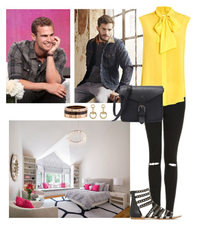 """""""Being visited by Her Brother, Robert Kennedy and Receiving a Call from Philip"""" by americanroyalty ❤ liked on Polyvore featuring Topshop, Moschino, Gucci and Cartier"""