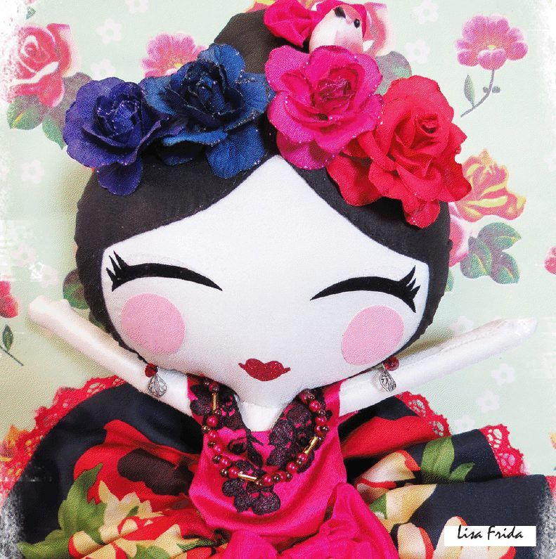 Little Lisa Smile  - great Frida Khalo tribute doll x