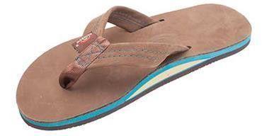 Men's Premier Blues Sandal in Expresso w Blue Midsole by