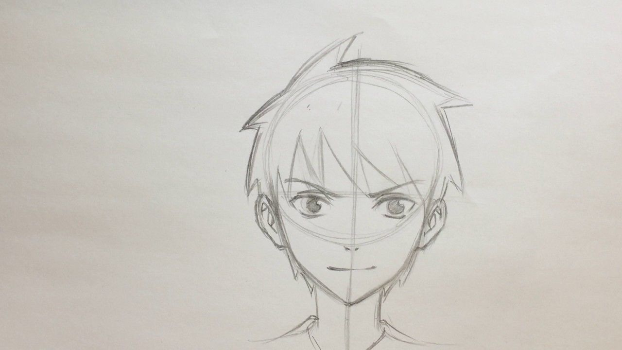 How To Draw Anime Boy Face No Timelapse Anime Drawings Boy Anime Drawings Anime Boy Hair