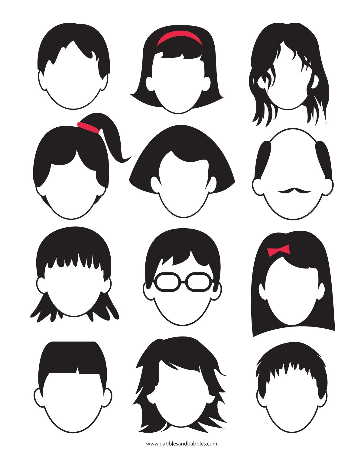 Faces Em Branco Para Imprimir E Desenhar Arte Para Criancas