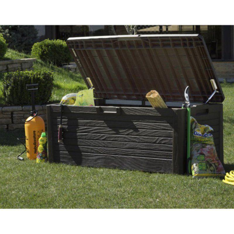 Outdoor Toomax Florida 145-gallon 58 in. Patio Deck Box - 155-BROWN