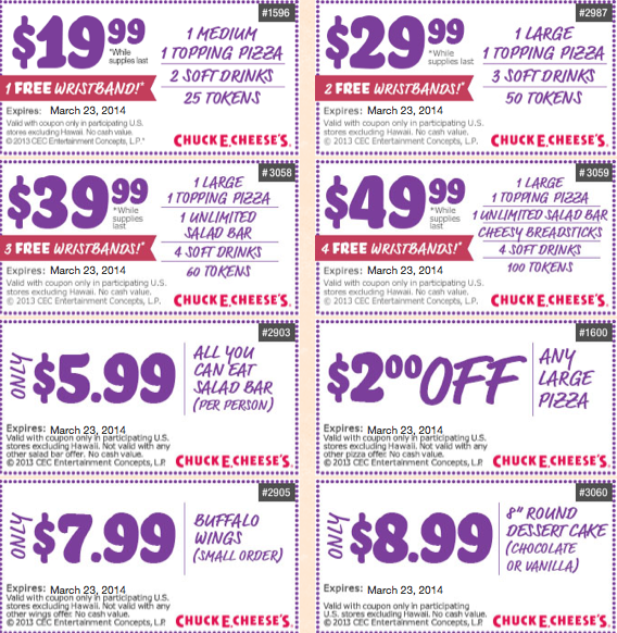 coupons for chuck e cheese birthday party 2019