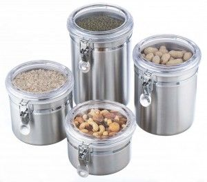 Stainless Steel Storage Jars