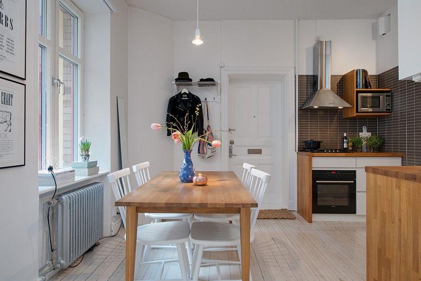 Otwarta Kuchnia Z Jadalnia W Mieszkaniu Bez Przedpokoju Lovingit Pl Home Kitchens Home Decor Home