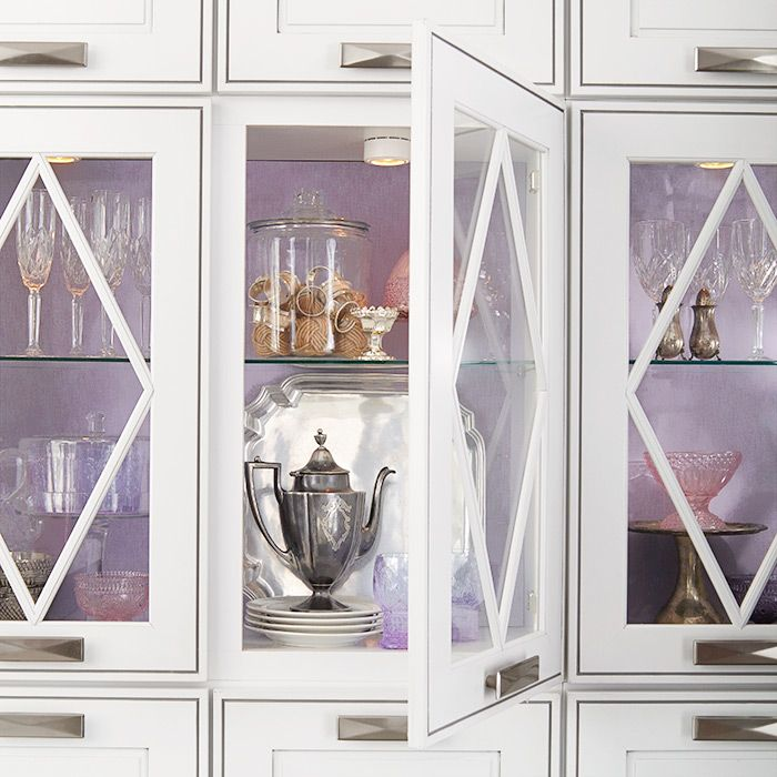 Glass Door Kitchen Cabinets And Purple Cabinet Interiors For More Diy Ideas Painted Kitchen Cabinets Colors Glass Cabinet Doors Glass Kitchen Cabinet Doors