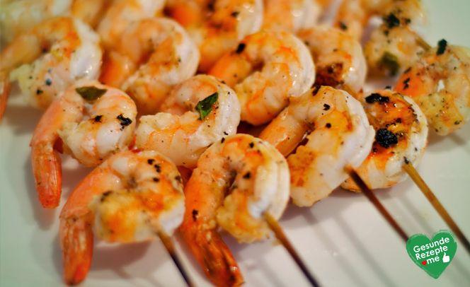 Knoblauch-Garnelen-Spieße #shrimpscampi