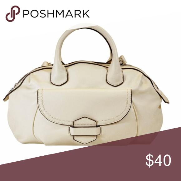 4d0f2b9473 Soft Off White Tuck   Loop Satchel Purse Bag New. Butter soft solid color  handbag