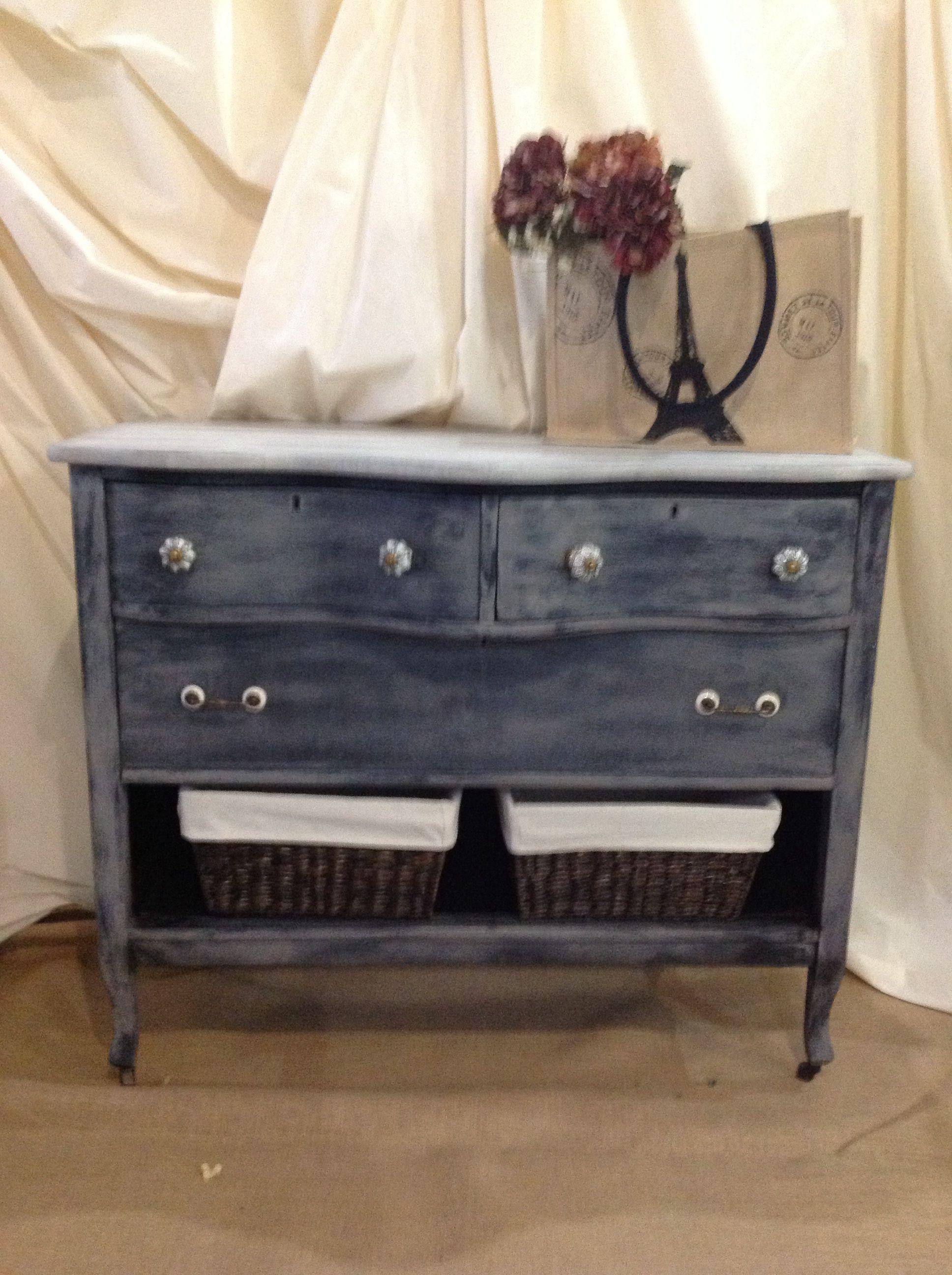 Custom multi color repurposed antique dresser