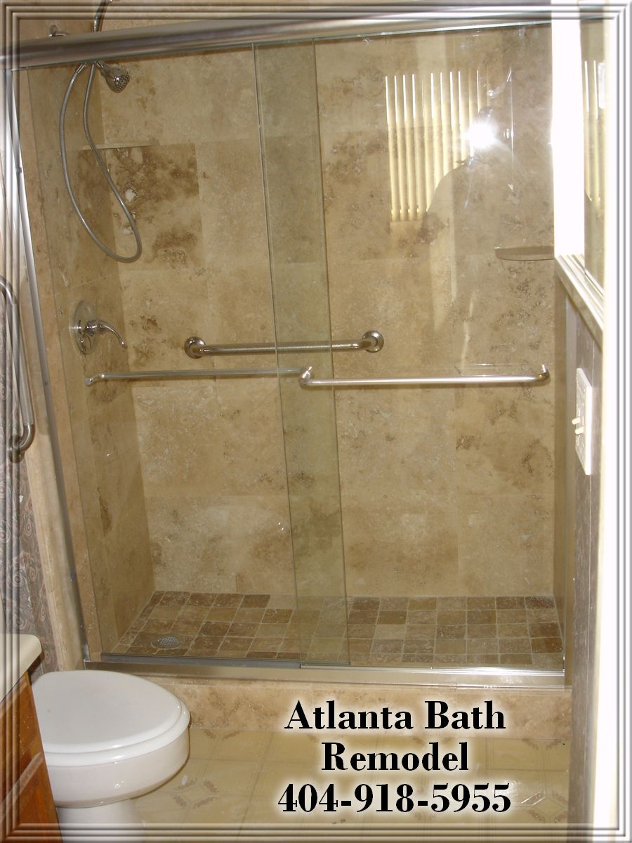 Shower Ideas Bathroom Remodeling Atlanta Shower Remodel Travertine - Bathroom remodel atlanta