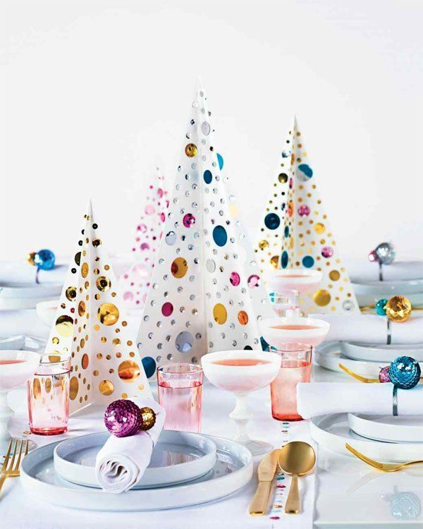 Image result for Christmas tablescapes martha stewart""