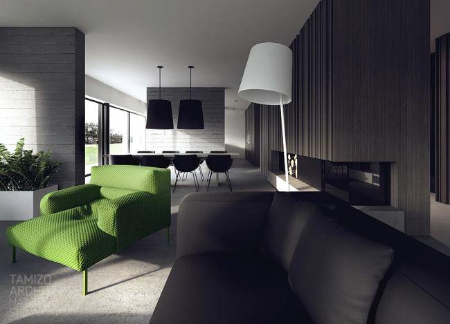 Idées Décoration Interieur en noir et blanc Salons