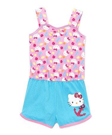 baa135977 Pink & Blue Anchor Hello Kitty Romper | Baby & Youth - Girls | Girls ...