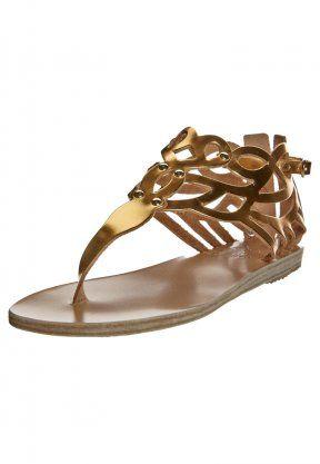 Ancient Greek Sandals, MEDEA - Zehentrenner - gold, http://www.emeza.de/ancient-greek-sandals-medea-zehentrenner-gold-ag811b001-706.html