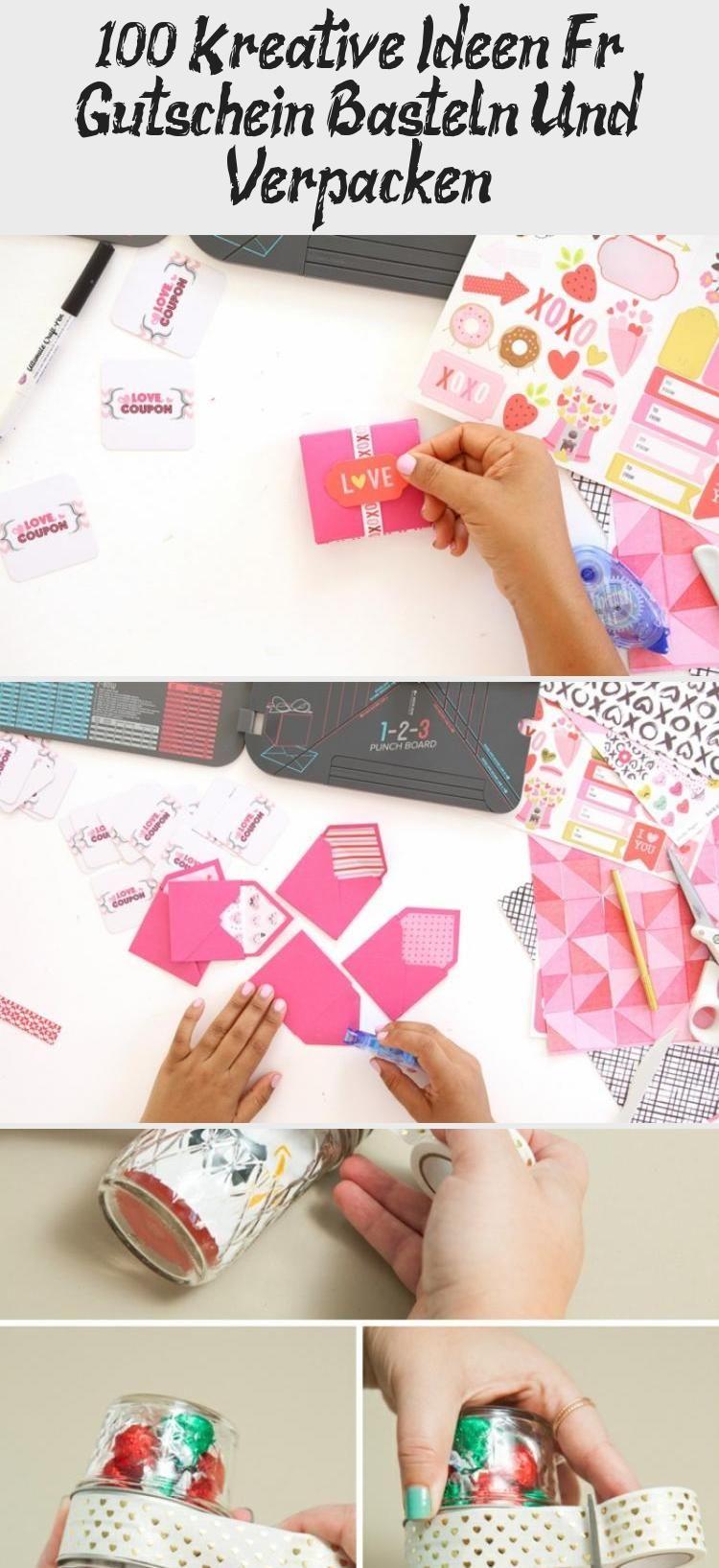 100 Kreative Ideen Für Gutschein Basteln Und Verpacken #kinogutscheinbasteln