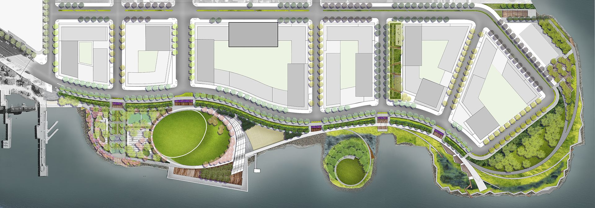 Hunter S Point South Waterfront Park Swa Balsley In 2020 Landscape Plans Waterfront Park