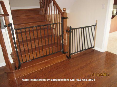 Beautiful Baby Gate Option For Mounting With No Holes In The Newell Post. Great  Option If
