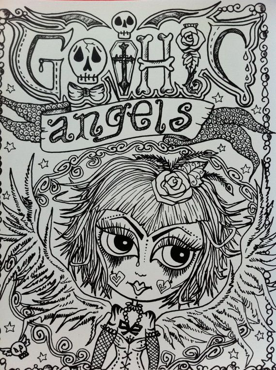 Gothic Angels ColLoRinG Book for You to Color by ...