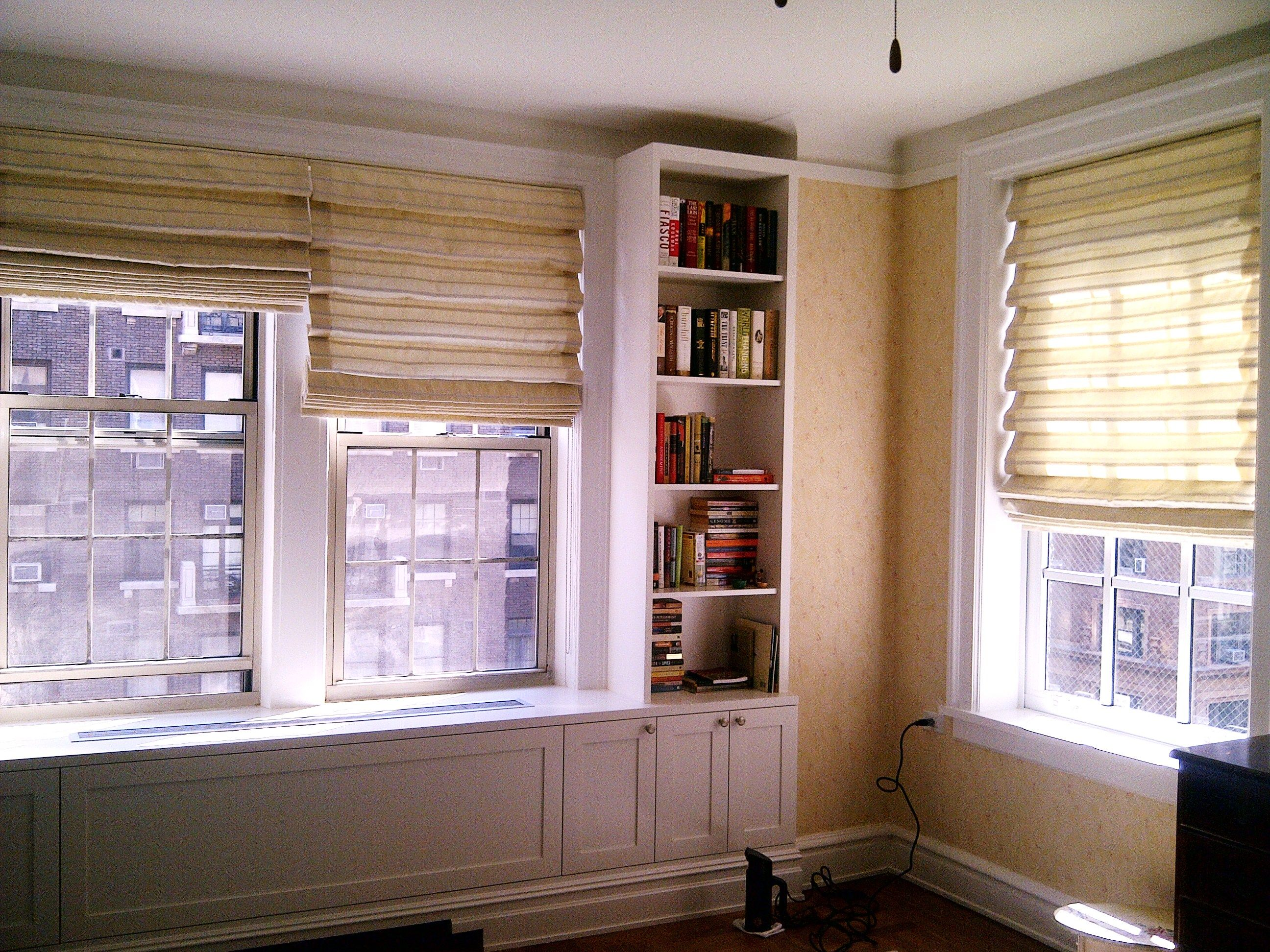 Kitchen window roman blinds  we custom made this soft romans shades with  silk fabric  soft