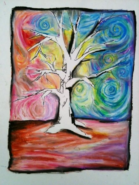 Image Result For Experimental Drawing Pastels Trees Tree Drawing Autumn Art Tree Art