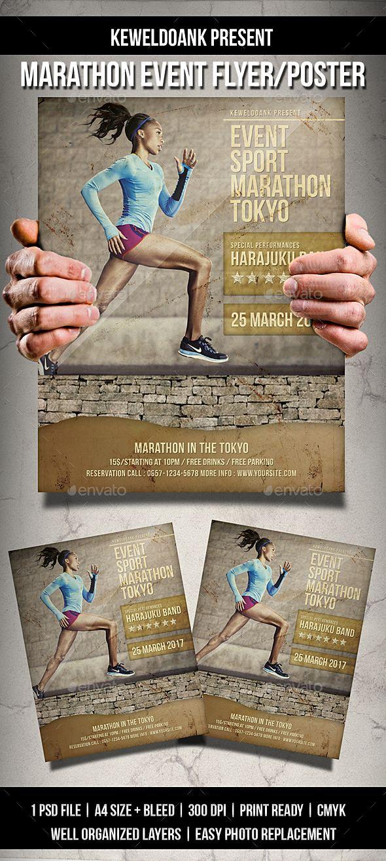 Marathon Event Flyer Poster Event Flyers Event Flyer Templates