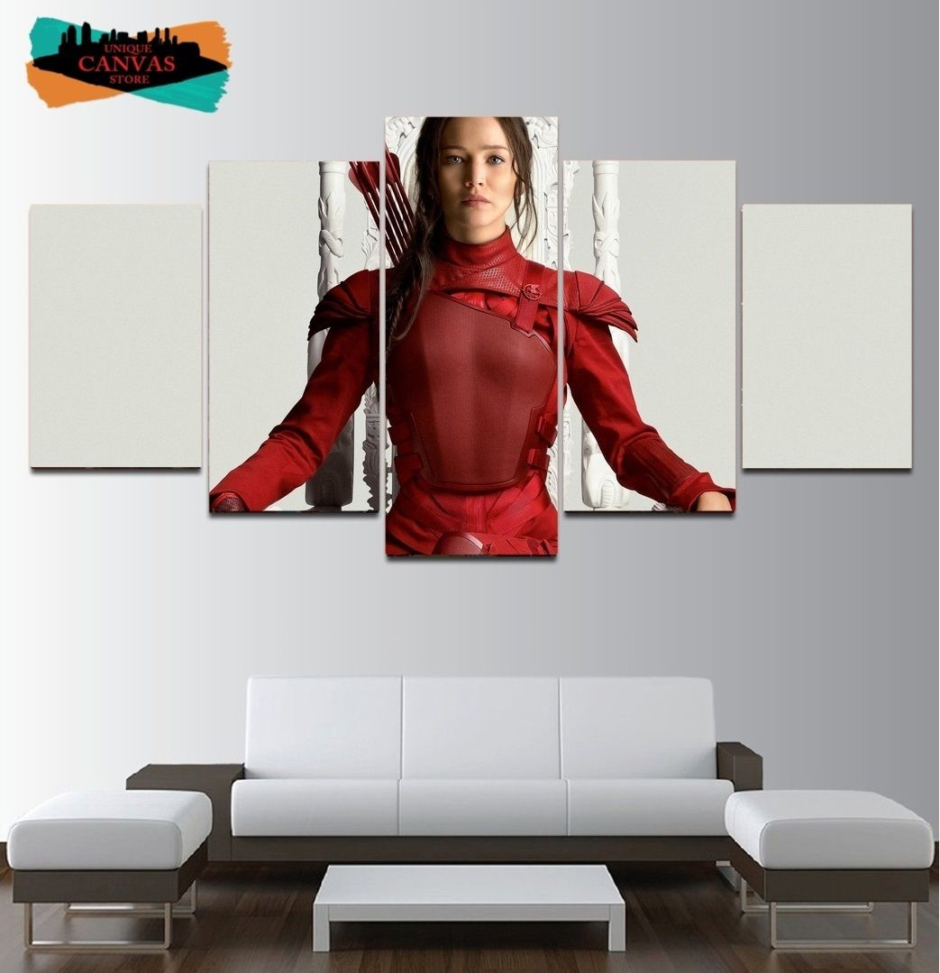 The hunger games wall art decor painting oil on canvas katniss