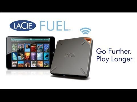 LaCie FUEL Portable Wireless Storage for iPad®, iPhone