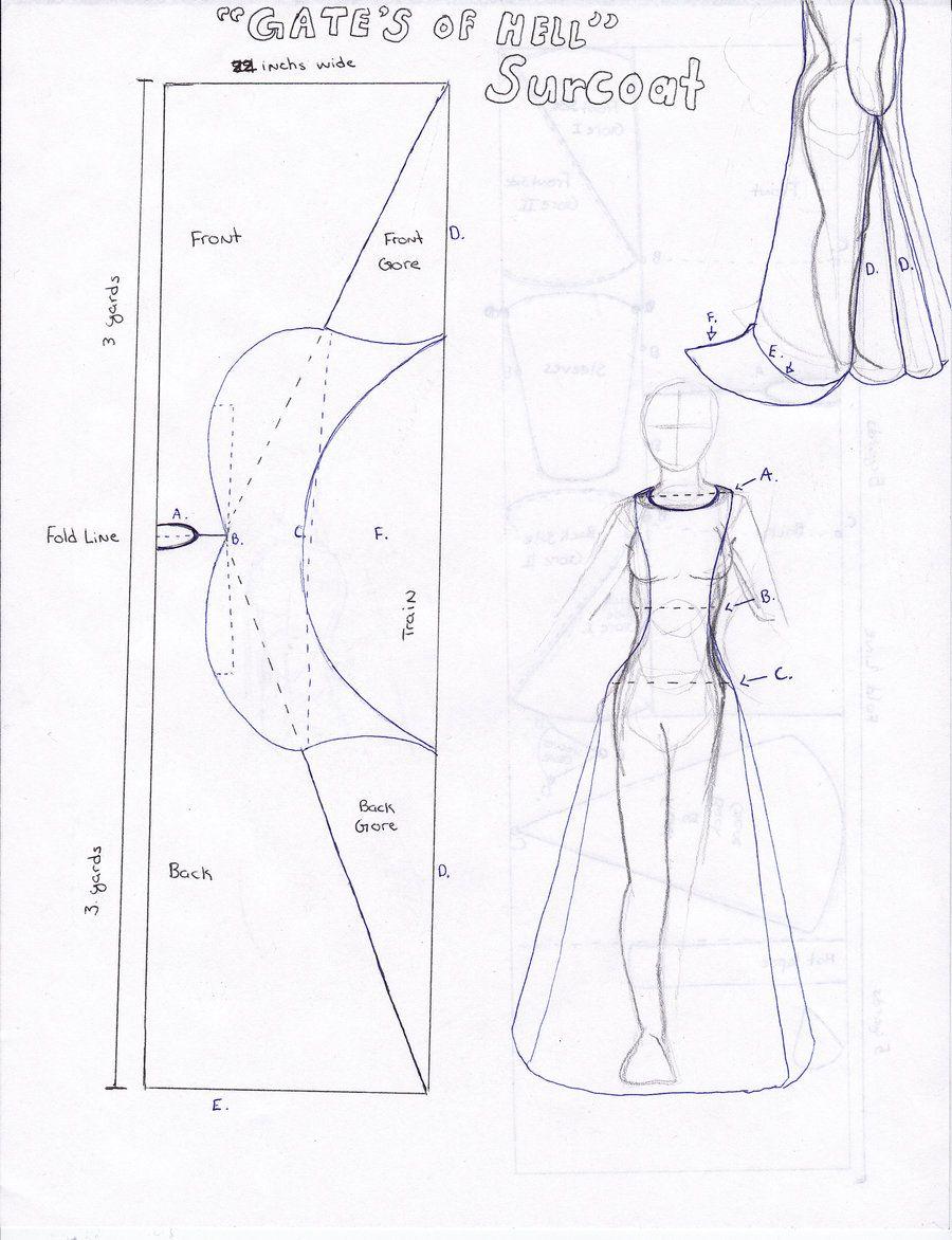Blue print for Surcoat by Persphonefallen.deviantart.com on ...