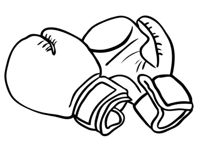 Boxing Gloves For Strong Coloring Pages Enfant