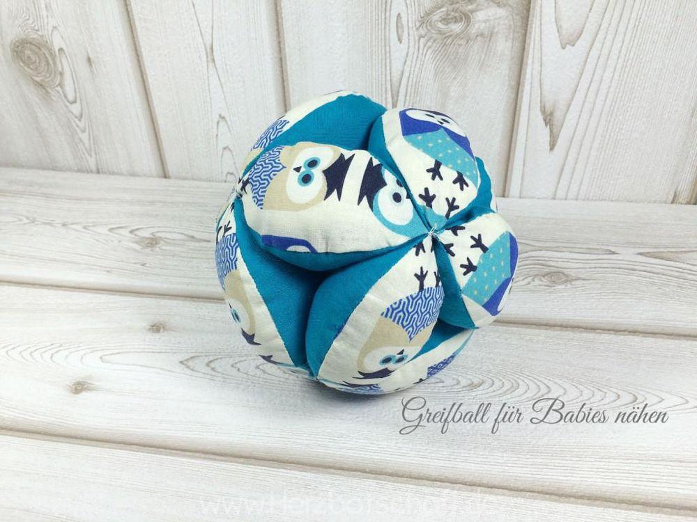 Greifball für Babies nähen - Herzbotschaft.de
