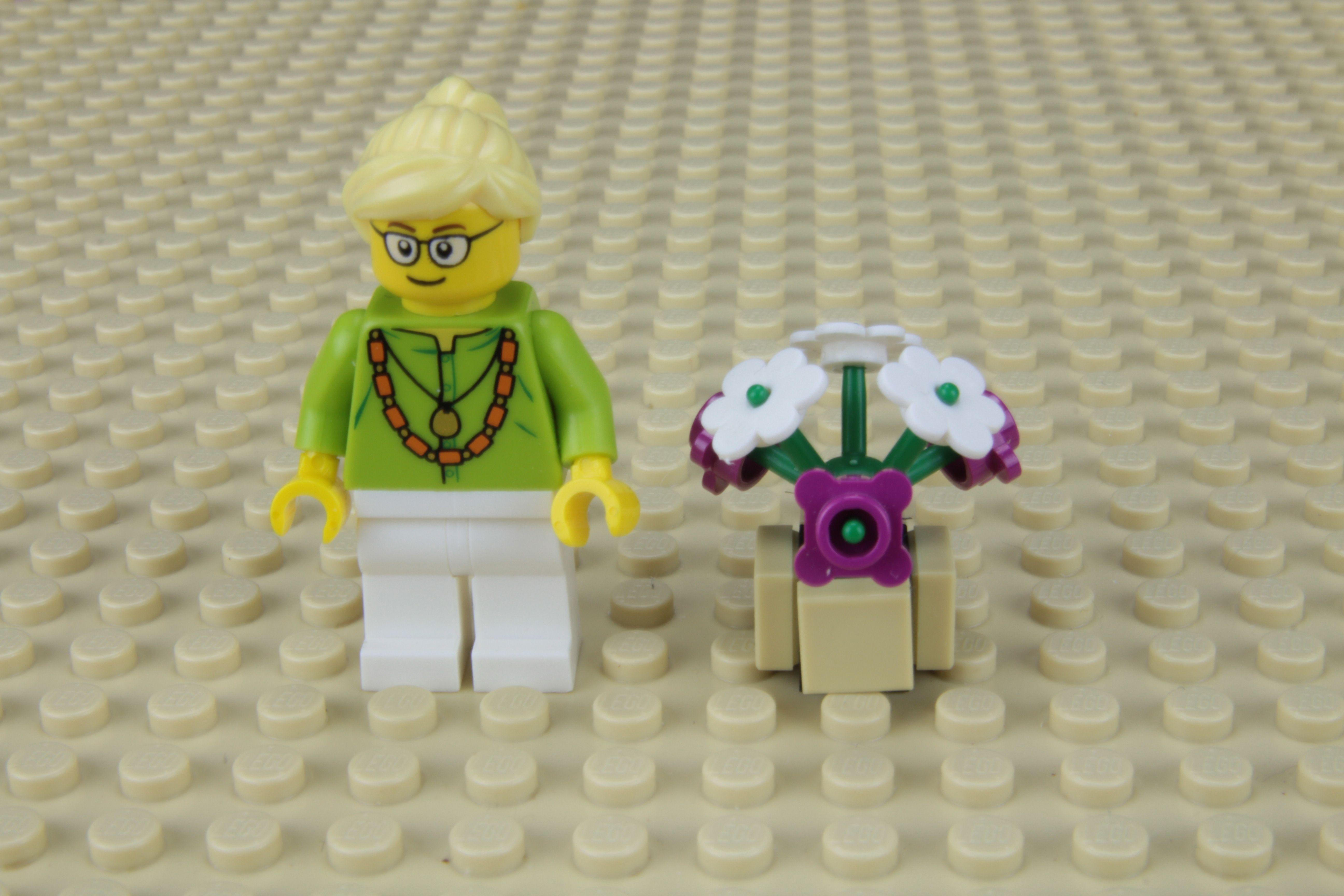 Fabrique un pot de fleurs pour tes minifigures LEGO®