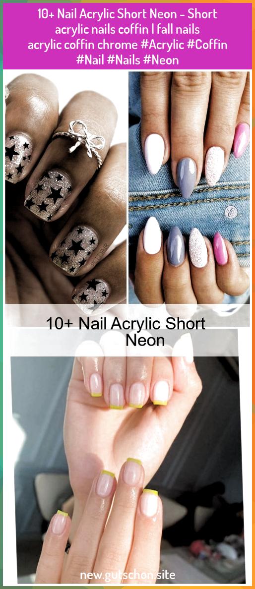 10 Nail Acrylic Short Neon Short Acrylic Nails Coffin Fall Nails Acrylic Co In 2020 Short Acrylic Nails Acrylic Nails Yellow Short Acrylic Nails Designs