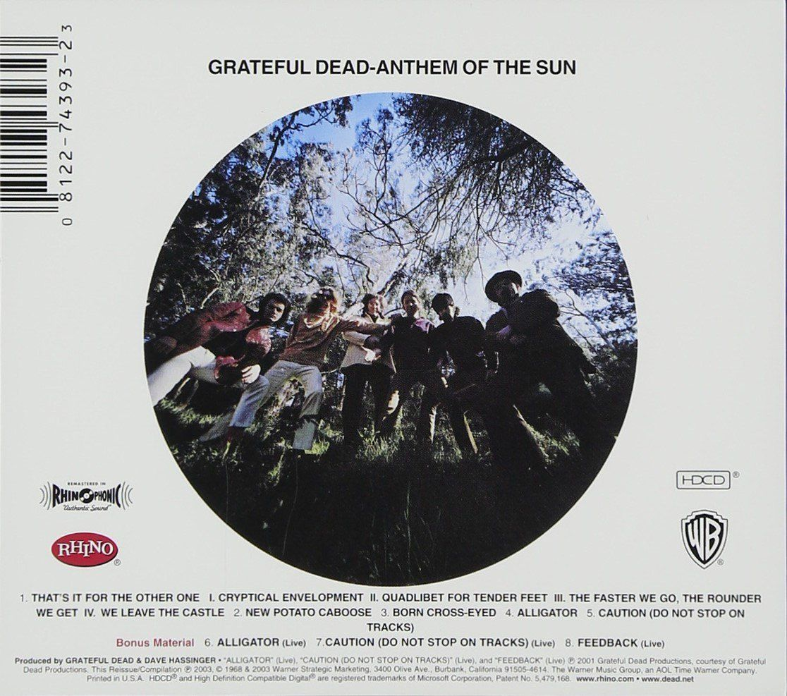 Anthem Of The Sun Back Cover 1968 0317 With Images Album