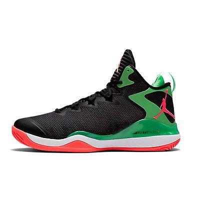 online store e3943 9abb4 Nike Jordan Super.Fly 3 Mens 684933-030 Black Green Red Basketball Shoes Sz  8