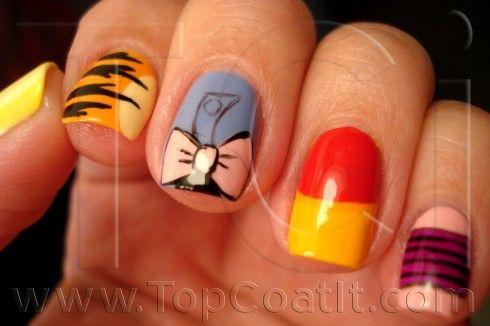 Winnie The Pooh Nails Love The Eeyore One Especially Nail Art