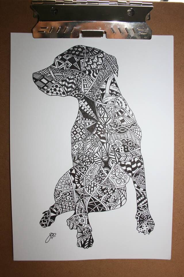 Zentangle Staffy I Did Staffy Zentangle My Art And
