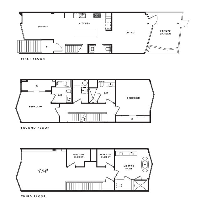 The Pacific Prepares To Sell Its Very High End Row Houses. Apartment Plans  ...