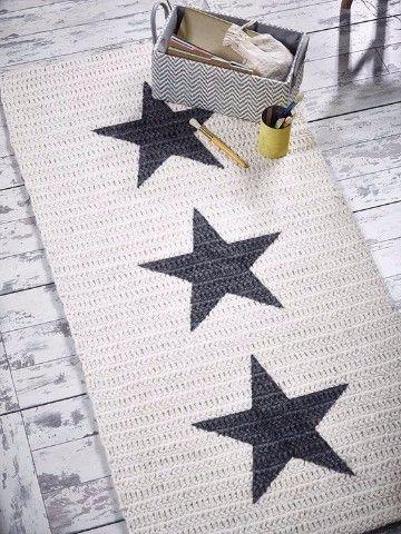 Como hacer alfombra de trapillo rectangular patrones decoracion ganchillo croch y alfombra - Como hacer alfombras de trapillo redondas ...