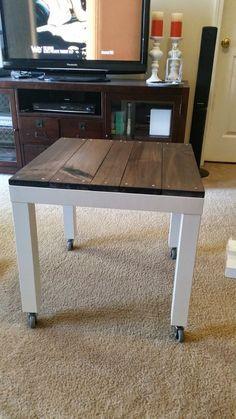 Garder L Idee De Mettre Des Roulettes A Une Table Basse Lack D Ikea Table Basse Lack Idees De Meubles Mobilier De Salon