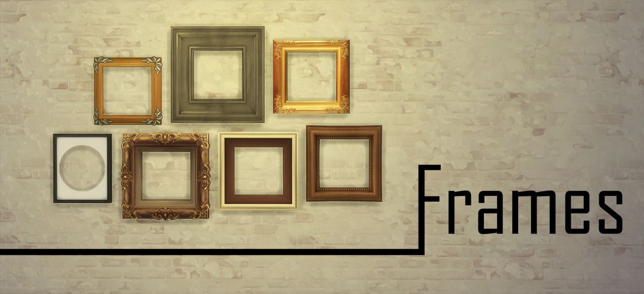 Sims 4 Custom Content Finds - jools-simming: Frames This is a set of ...