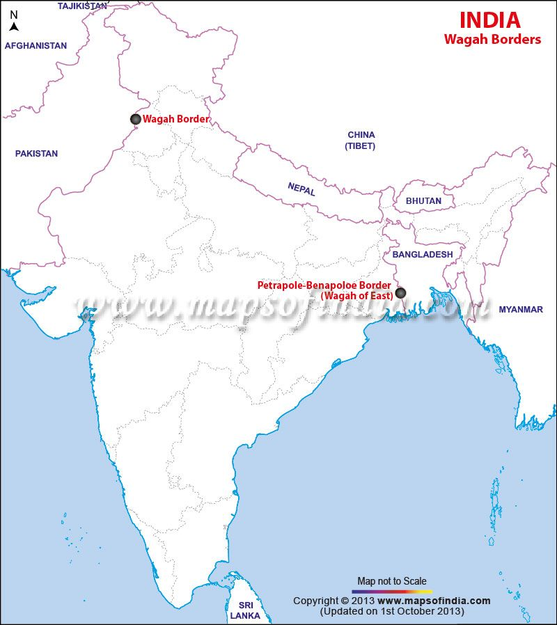 Location of Wagah Border India Maps Pinterest India India map