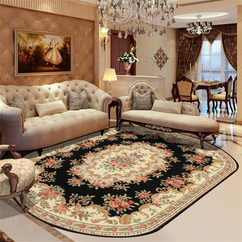 Textiles 160X230CM Wilton Oval Rugs And Carpets For Home Living Room Europe Bedroom Floor Mat Study Dining Area Rug Coffee Table Carpet Detailed