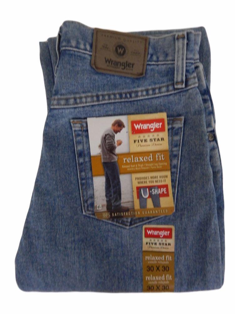 bd3f5bc2 Wrangler Five Star Premium Jeans Size 30 x 30 Mens Straight Leg Stonewashed  NEW #Wrangler #Regular