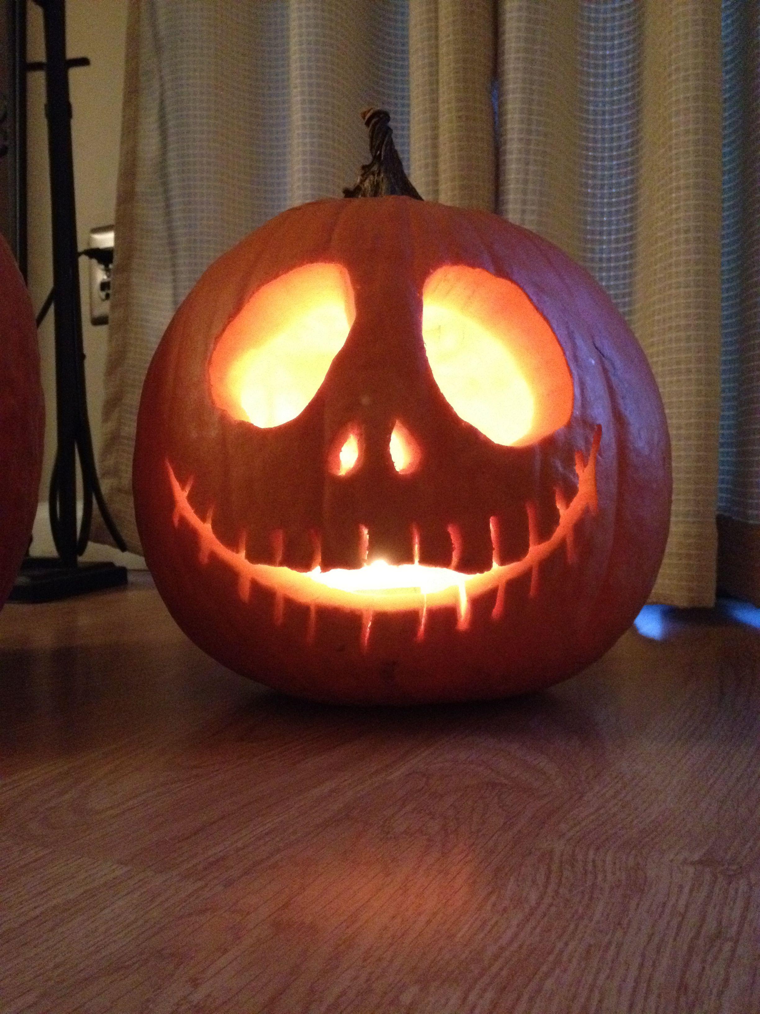 Nightmare before Christmas Jack Skellington pumpkin