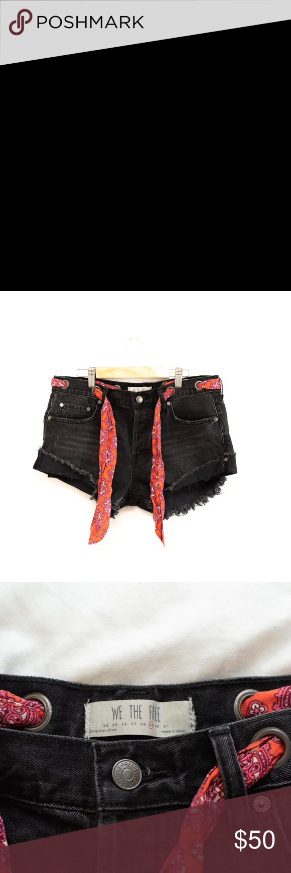 196f3fdcd4c WE THE FREE Free People Sashed   Relaxed Shorts WE THE FREE Free People  Sashed