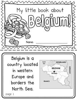 Belgium Booklet A Country Study