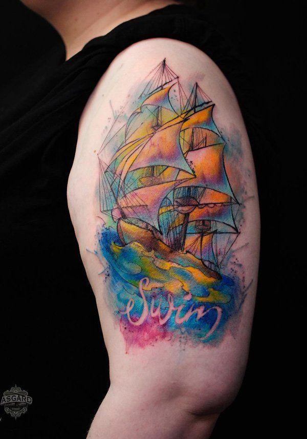 60c51118a 100 Boat Tattoo Designs   tattoos   Tattoo designs, Tattoos, Sleeve ...