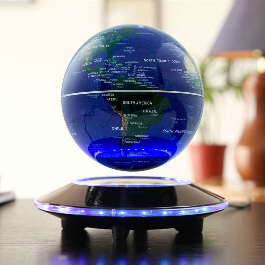 Magnetic Levitating World Map Globe Floating Rotate Earth Led Light Gift 8 Led L Map Globe World Floating Globe Magnetic Levitation Levitation