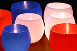 DIY Wax Bowl Luminaries for your Wedding Reception