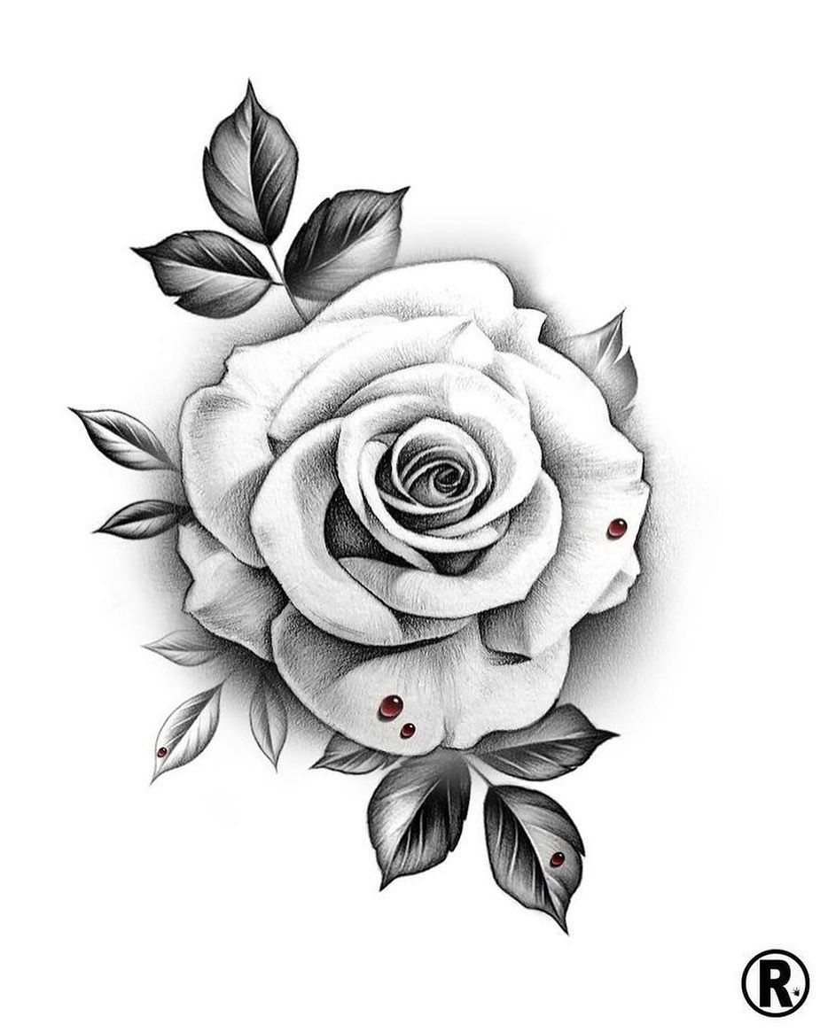 Tattoo Tattoosketch Tattooartist Tattooart Art Tattoostyle Minimalism Gothic Gothicstyle In 2020 Realistic Rose Tattoo White Rose Tattoos Rose Drawing Tattoo